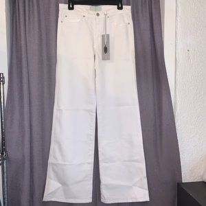 Imitation of Christ White Wide Leg Jeans Denim